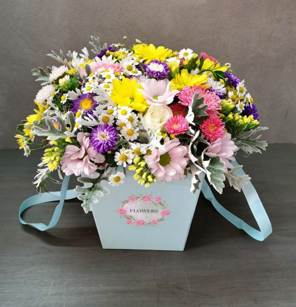 bouquet in a gift box